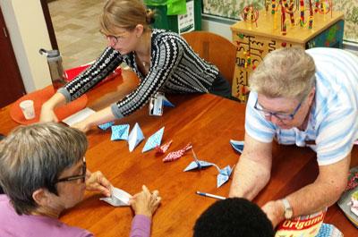 Paper Crane Folding Event